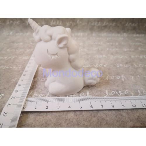 STAMPO in gomma liquida siliconica professionale - Unicorno grande 3D in gesso resinato