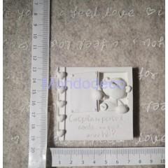 STAMPO in gomma liquida siliconica professionale - Targa con scritta e orso in gesso resinato