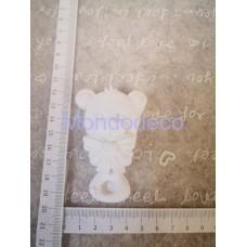 STAMPO in gomma liquida siliconica professionale - Sonaglio con orso in gesso resinato