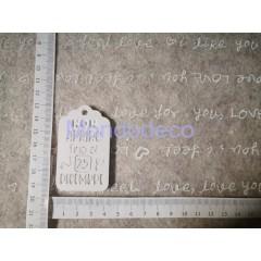 STAMPO in gomma liquida siliconica professionale -  Targa con scritte in gesso resinato