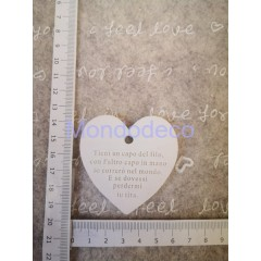 STAMPO in gomma liquida siliconica professionale -  Targa cuore con scritte in gesso resinato