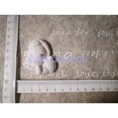 STAMPO in gomma liquida siliconica professionale -  Orso nascita in gesso resinato
