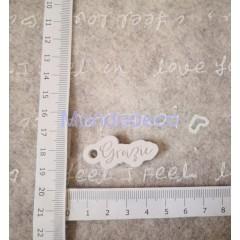 STAMPO in gomma liquida siliconica professionale -  Targa con scritte GRAZIE  in gesso resinato