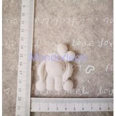 STAMPO in gomma liquida siliconica professionale - Asinello con palloncini in gesso resinato