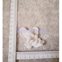 STAMPO in gomma liquida siliconica professionale - Elefantino con palla in gesso resinato