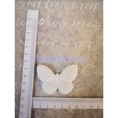 Gessetto - Set 2 pz. Farfalla in gesso resinato