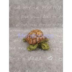 Gessetto - Tartaruga in 3D in gesso resinato sintetico dipinto a mano