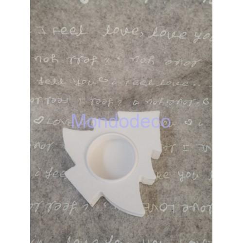 Stampo in gomma siliconica liquida professionale - Gessetto - Alberello porta the light in 3d in gesso resinato