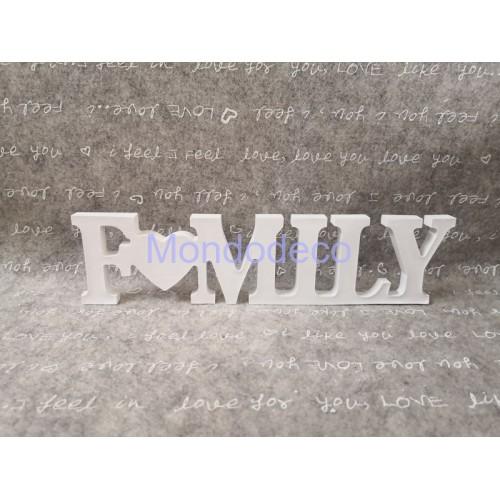 Gessetto - Scritta FAMILY in gesso resinato