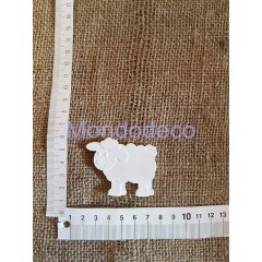 Pecorella in gesso resinato naturale displast