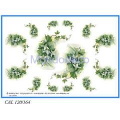 Carta per decoupage con fiori