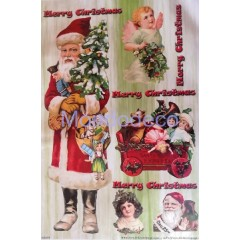 Carta per decoupage con Babbo Natale