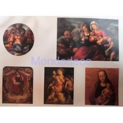 Carta per decoupage con icone, madonna con il bambino