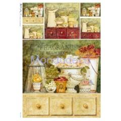 Carta di riso disegnata per decoupage con Fragrances of flowers
