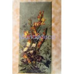Carta di riso disegnata per decoupage con mazzo di fiori
