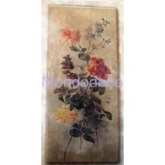 Carta di riso disegnata per decoupage con fascio di rose