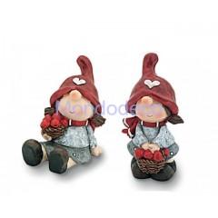 I folletti della quercia - Bambini piccoli con cestino funghi