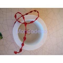 Passamaneria - Nastro in lame color rosso adatto alle ns decorazioni