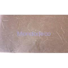 Carta di Riso color marrone con fili d'argento adatto al decoupage