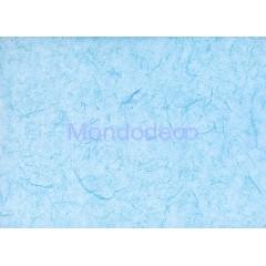 Carta di riso in tinta unita color azzurro adatto per il decoupage