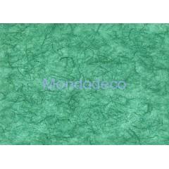 Carta di riso in tinta unita color verde smeraldo adatto per il decoupage