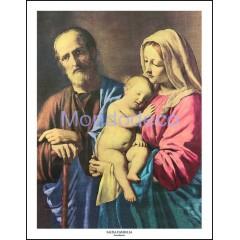 Stampa con raffigurazione Sacra Famiglia (Sassoferrato)
