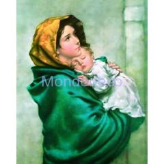 Stampa con Madonna del Riposo (R. Ferruzzi)