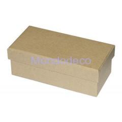 Scatola rettangolare in cartone piccola color havana adatto per decoupage