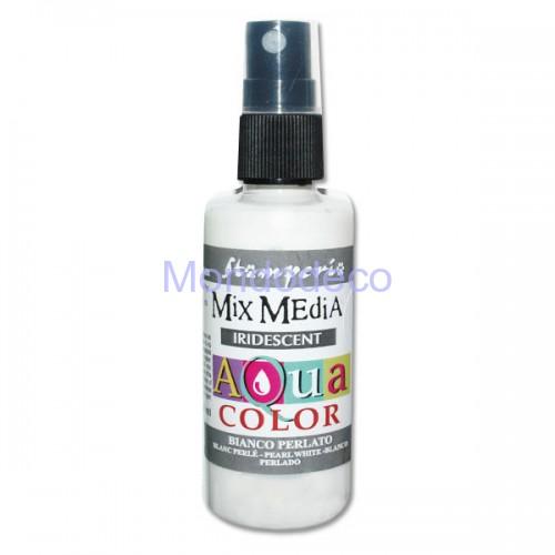 MIX Media - Aquacolor per legno 60 ml Bianco Perlato KAQ019