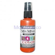 MIX Media - Aquacolor per legno 60 ml Arancione iridescente KAQ022