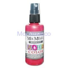 MIX Media - Aquacolor per legno 60 ml Rosa Intenso Iridescente KAQ024