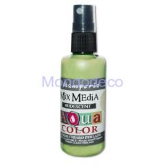 MIX Media - Aquacolor per legno 60 ml Verde Chiaro Perlato KAQ033