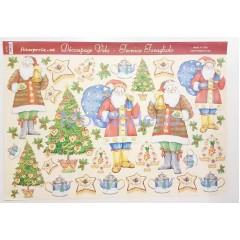 Carta velo per decoupage con Babbo Natale DFV32