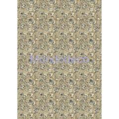 Carta di riso disegnata per decoupage con Roses with Ocher Background DFSA3011