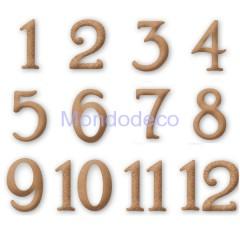 Numeri arabi in MDF adatto al decoupage