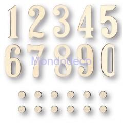Kit numeri Arabi per Orologio + pallini KFN02 per decorare adatto al decoupage