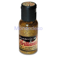 Brillantini color oro grana grossa 20 gr.