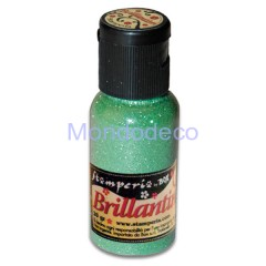 Brillantini color verde grana fina 20 gr.