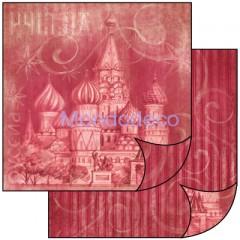 Foglio Double Face - Carta per Scrapbooking RUSSIA SBB456