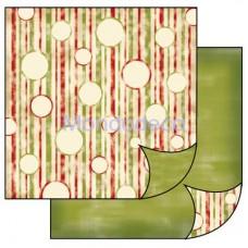 Foglio Double Face - Carta per Scrapbooking Texture bolle NATALIZIO VERDE SBB131