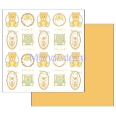 Foglio Double Face - Carta per Scrapbooking con Baby orsetti e gufetti SBB463