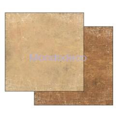 Foglio Double Face - Carta per Scrapbooking  Texture graffiata Beige-Camoscio SBB342