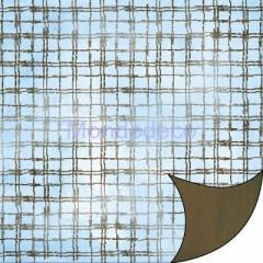 FOGLIO DOUBLE FACE - Carta per Scrapbooking TARTAN MARRONE-SFUMATO SBB020