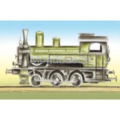 Carta per Decoupage -  Decoupage 3D con locomotiva DF3D010A