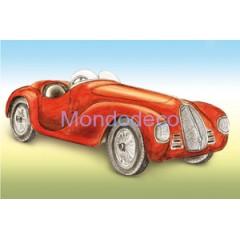 Carta per Decoupage -  Decoupage 3D con macchina fiammante rossa DF3D011A