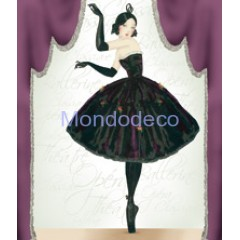 Carta per Decoupage -  Decoupage 3D con ballerinae scritte  DF3D011B