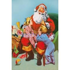 Carta per Decoupage -  Decoupage 3D con Babbo Natale e bambini DF3DO13A