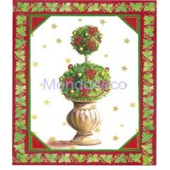 Carta per Decoupage -  Decoupage 3D con albero natalizio con addobbi DF3D042D