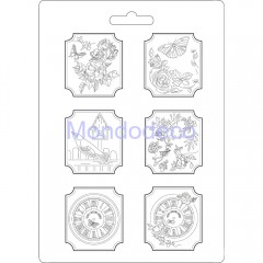 Stampo A4 in pvc flessibile - Plaquettes House of Roses K3PTA465
