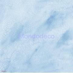 Tovagliolo in carta di riso disegnata per decoupage  con texture crackle azzurro DFT146